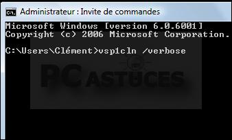 Supprimer les fichiers d'installation du SP1