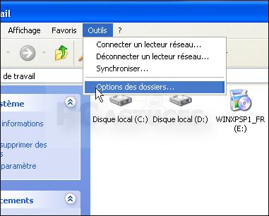Masquer la liste des t ches habituelles windows xp for Fenetre windows xp