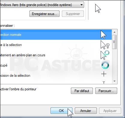 Agrandir la taille du pointeur de la souris windows vista - Performances du bureau pour windows aero ...