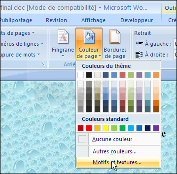 comment décorer un document word