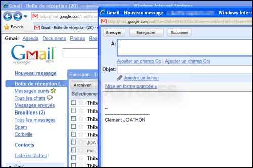 Pc astuces ouvrir dans une nouvelle fentre google gmail for Lien dans une nouvelle fenetre