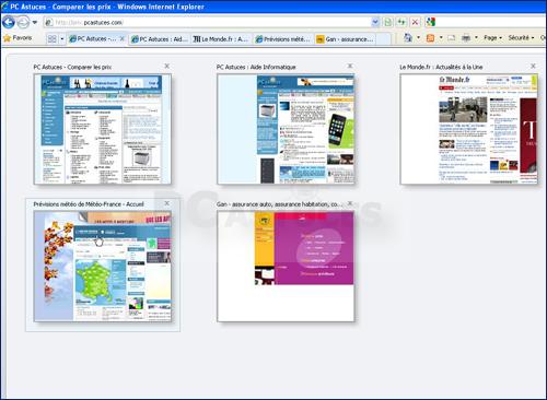 Comment afficher les onglets des fenetres internet ouvertes for Fenetre internet
