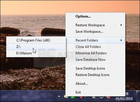 Retrouver la position des fen tres des dossiers windows for Fenetre 3d windows 7
