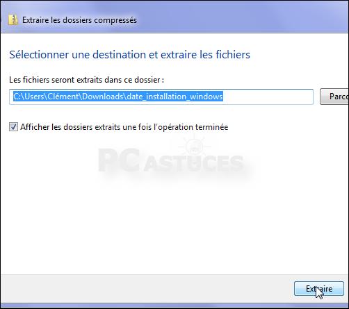 Retrouver la date d 39 installation de windows windows for Fenetre qui s ouvre