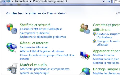 Ajouter le panneau de configuration la fen tre for Affichage fenetre miniature windows 7
