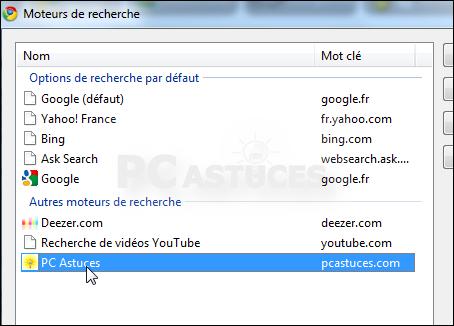 Changer moteur de recherche par défaut firefox