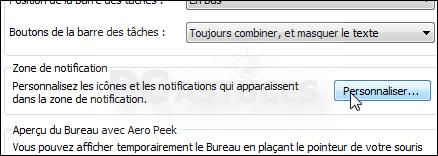 Afficher toutes les ic nes de la zone de notification windows 7 - Afficher le bureau windows 7 ...