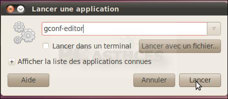 Masquer les icônes des disques amovibles du Bureau - Linux Ubuntu 10 3000-2
