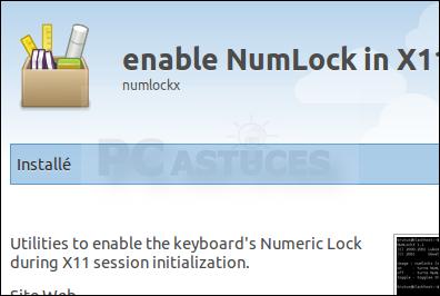 Activer le pavé numérique au démarrage - Linux Ubuntu 10.10 3006-5