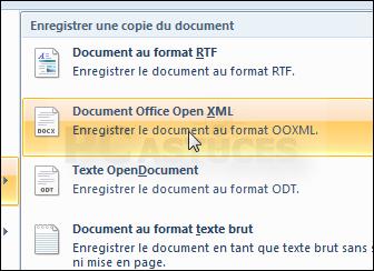 Pc astuces convertir un document odt en doc word - Ouvrir document open office avec word ...