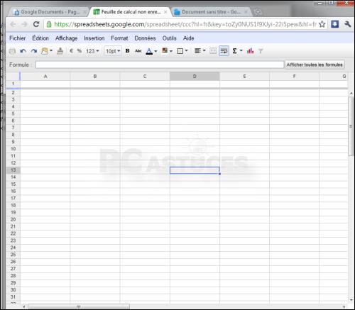 pc astuces agrandir l 39 espace de travail google documents. Black Bedroom Furniture Sets. Home Design Ideas