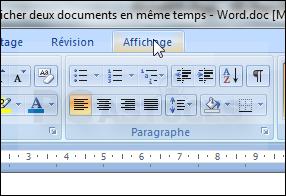 comment afficher 2 documents word meme temps