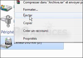 Ejecter un disque depuis le bureau windows 7 tous les - Comment faire un raccourci sur le bureau ...