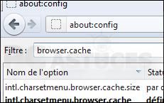 Déplacer le cache du navigateur en mémoire - Firefox 3332-3