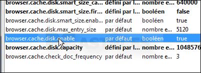 Déplacer le cache du navigateur en mémoire - Firefox 3332-4