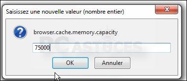 Déplacer le cache du navigateur en mémoire - Firefox 3332-9
