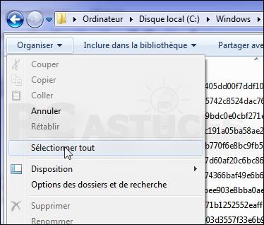 Vider dossier mises jour Windows