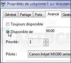 Interdire impressions certaines heures Windows