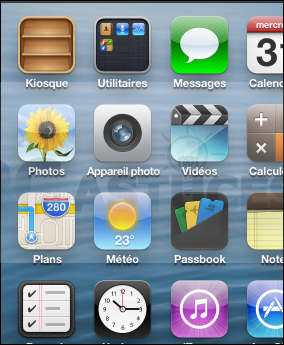 comment modifier fond d'ecran iphone