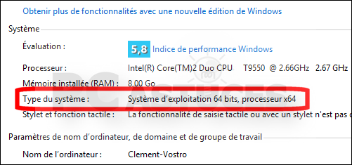 photo comment savoir si windows 8 32 ou 64 bits