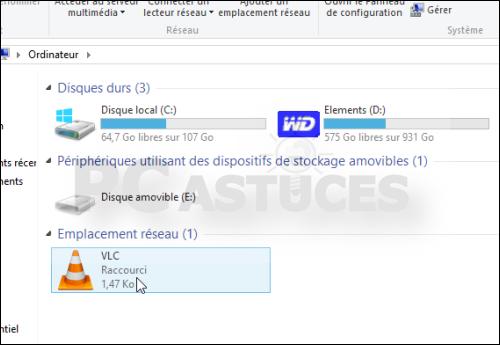 Ajouter un raccourci dans la fen tre ordinateur windows 8 for Raccourci clavier agrandir fenetre windows 7