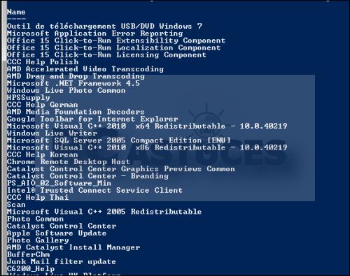 recuperer la liste de tout les logiciel instaler sur windows 7 3806-4