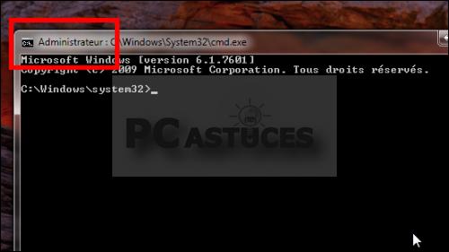 Ouvrir une fen tre d 39 invite de commandes en tant qu for Ouvrir fenetre dos windows 7