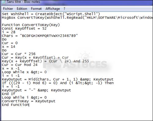 Retrouver sa clé produit de Windows - Windows toutes versions 4279-2