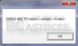Retrouver sa clé produit de Windows - Windows toutes versions 4279-8