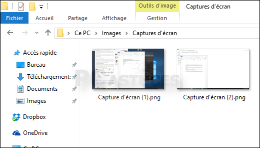 Faire rapidement une capture d 39 cran windows 10 for Capture d42cran