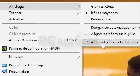 Masquer les ic nes du bureau windows 10 jasmo informatique - Comment mettre des icones sur le bureau ...