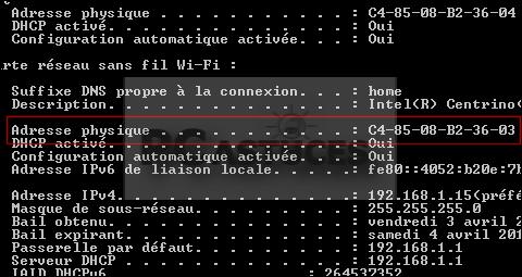how to get computer mac address windows 10