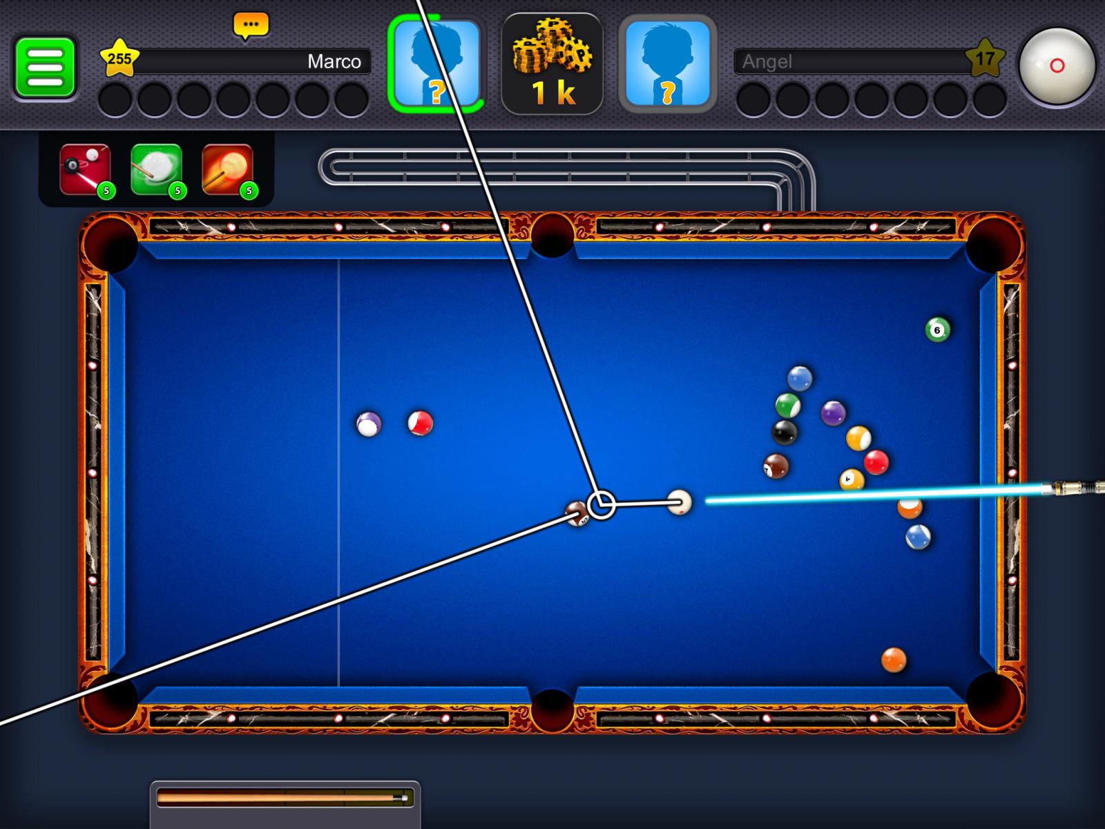 Billard en ligne 8 ball pool