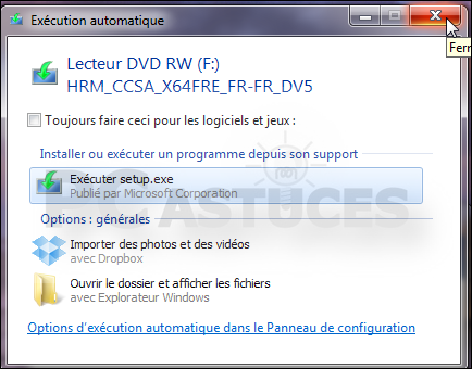 pc astuces cr er une cl usb d 39 installation de windows 8 partir du dvd. Black Bedroom Furniture Sets. Home Design Ideas