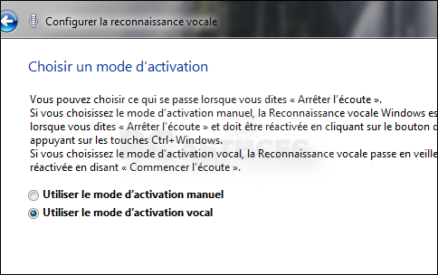 comment arreter la reconnaissance vocale windows 7