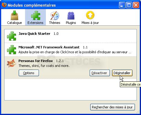Internet explorer a rencontre un probleme avec un module complementaire