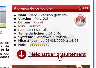 Logiciel du jour : Nero Lite - Version gratuite 10.0.10500 Graver_nero_gratuit_01