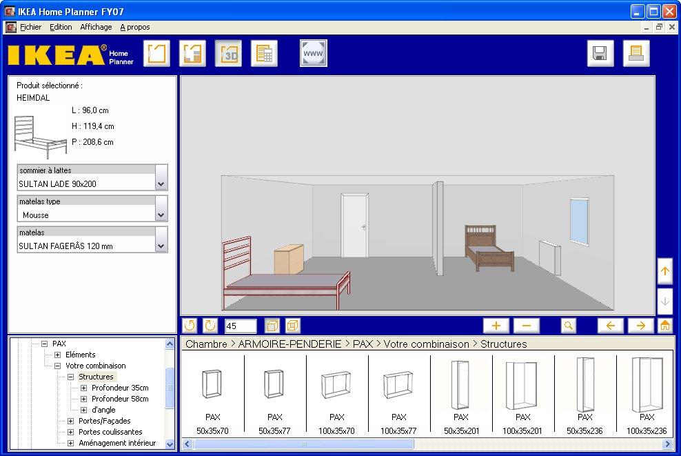 ikea home planner chambre agrandissement de la capture d 39 cran. Black Bedroom Furniture Sets. Home Design Ideas