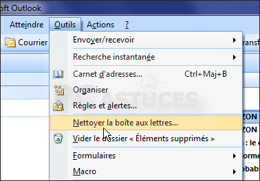 comment nettoyer outlook
