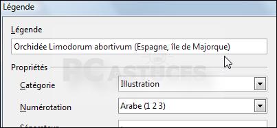Pc astuces constituer une table des illustrations - Numerotation des pages sur open office ...