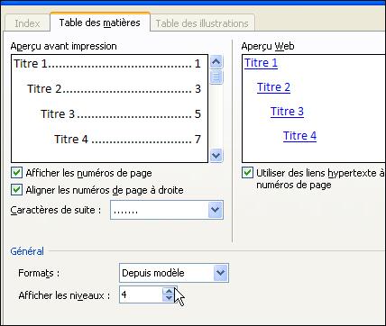 Astuces informatique - Exemple table des matieres ...