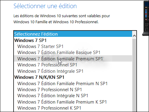 installer windows 10 famille