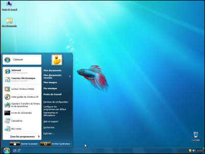 Pc astuces transformer windows xp et vista en windows 7 for Windows 7 bureau