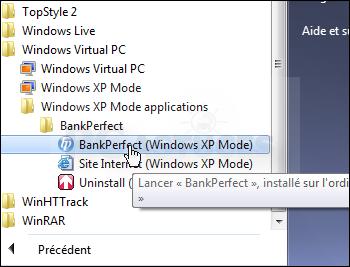 Pc astuces ex cuter un ancien logiciel sous windows 7 for Fenetre windows xp