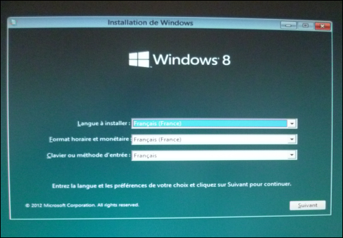 pc astuces installer windows 8 depuis une cl usb. Black Bedroom Furniture Sets. Home Design Ideas