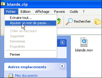 Protegez Vos Fichiers Zip Avec Un Mot De Passe Windows Xp