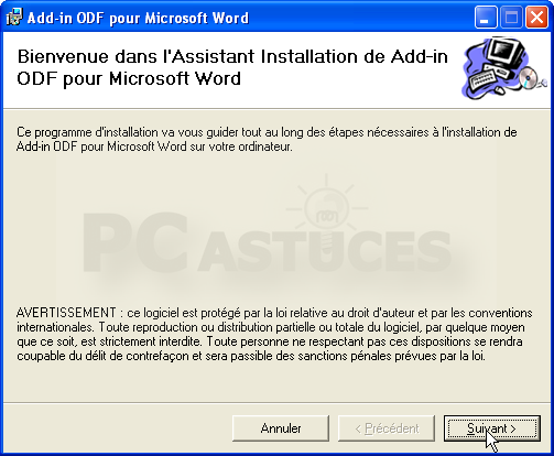 ouvrir un fichier odf avec word