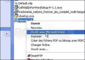 Pc astuces ouvrir un fichier odf avec word word - Ouvrir document open office avec word ...