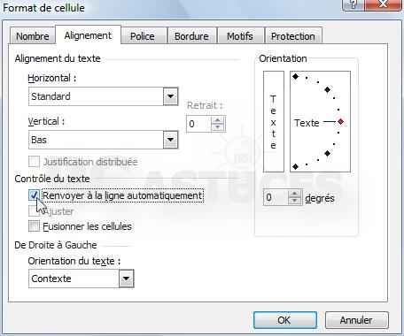 Ajuster Son Texte A La Largeur Des Cellules Excel