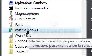 Restaurer les gadgets originaux - Windows Vista